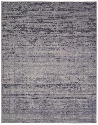 Grau melierter Jacquard-Teppich in verschiedenen Grautönen