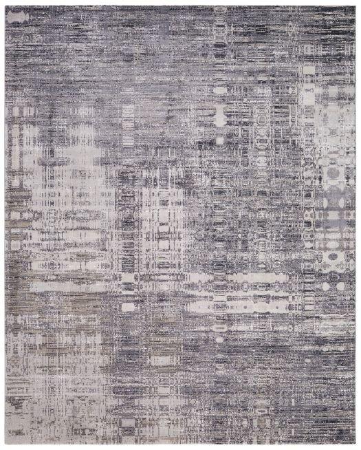 Moderner Jacquard-Teppich silber-grau-taupe