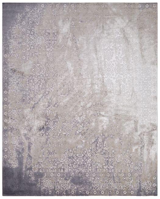 Orientalischer Jacquaard-Teppich hellgrau-taupe im Vintage-Look