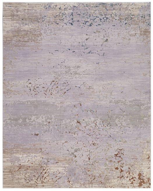 Moderner Jacquard-Webteppich grau-beige