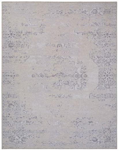 Hellgrauer Vintage-Teppich mit orientalischem Muster (Jacquard-Technik)
