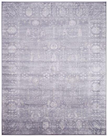 Grauer Jacquard-Teppich mit orientalischem Muster